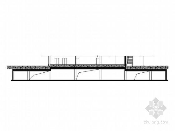 [江苏]单层剪力墙结构培训中心一类地下室建筑施工图