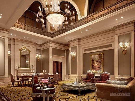 欧式客餐厅3D模型下载