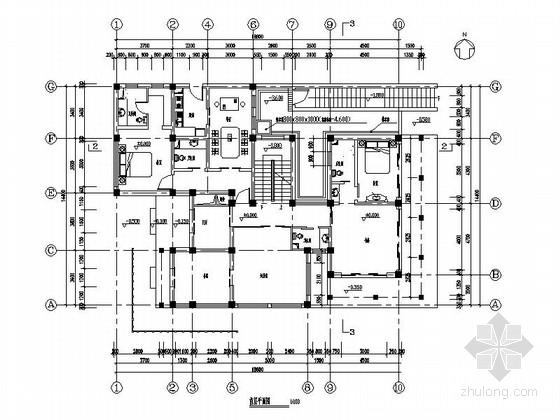 两层日式风格别墅建筑施工图-两层日式风格别墅建筑平面图