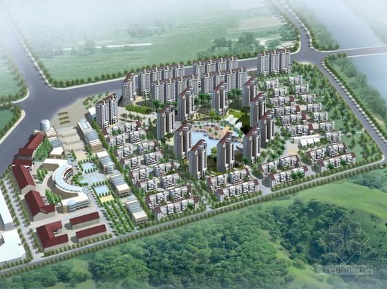 [武汉市]某现代住宅小区组团建筑规划方案设计(含户型图及效果图)