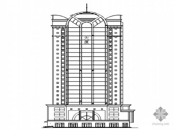 [西安]某二十三层大楼外装修建筑施工图(含钢构详图)