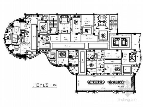 [广东]某豪华陶瓷展厅室内装修施工图