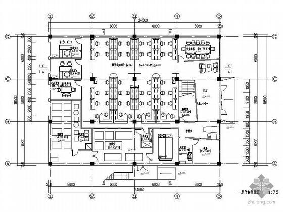 [上海]办公空间装修图