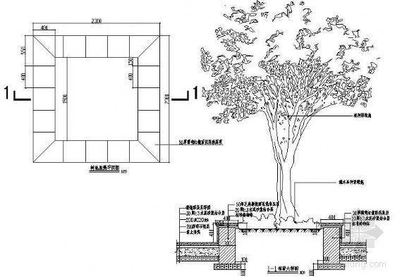 树池座凳详图2