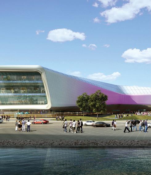 滨湖知名地产中心商务区超高层建筑设计方案效果图