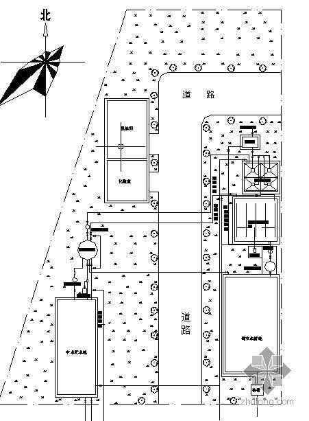 小区的中水站设计图