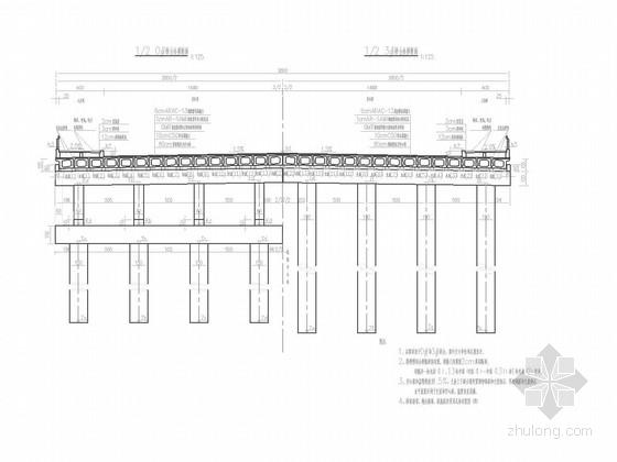 [湖南]16+16+16m简支桥面连续装配式预应力简支板桥施工图50张(附计算报告74页)
