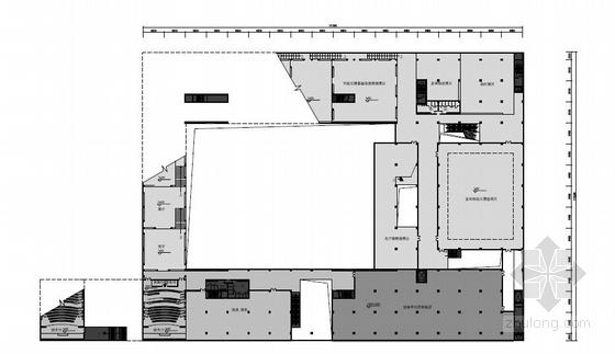 [安徽]六层徽派意蕴立方形体综合档案馆建筑设计方案文本-六层徽派意蕴立方形体综合档案馆建筑平面图