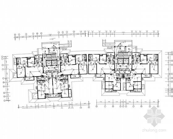 [陕西]一类高层住宅带人防电气施工图(甲级院最新设计)