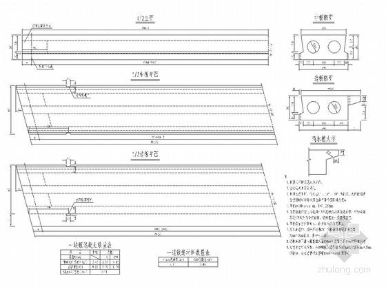 10m跨径装配式简支板桥上部结构通用图(18张)