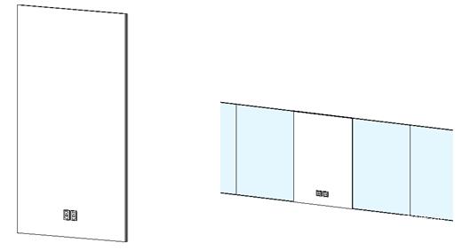Revit中如何灵活控制幕墙嵌板上的一些嵌套族