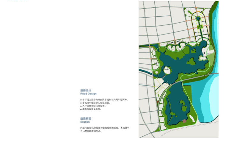 [山东]滞洪区景观概念性规划文本(知名设计公司)-道路系统规划