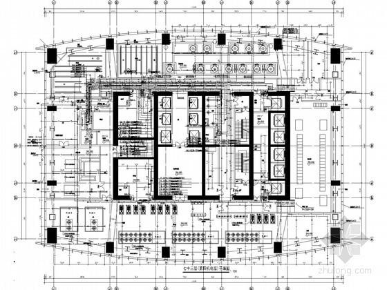 [深圳]58万平金融中心建筑给排水施工图纸(大空间智能灭火、气体灭火)