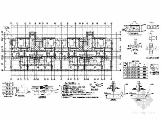[河北]七层砌体结构单元式住宅楼结构施工图(含建施)
