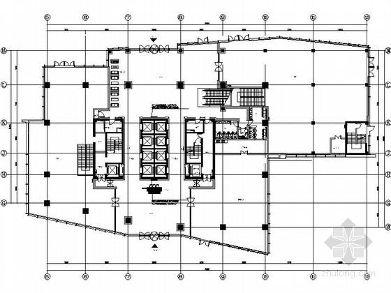 [上海]浦东金融区现代甲级办公大厦室内装修施工图