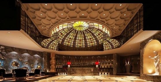 [福建]国际豪华欧式音乐会所设计施工图(含效果)大堂效果图