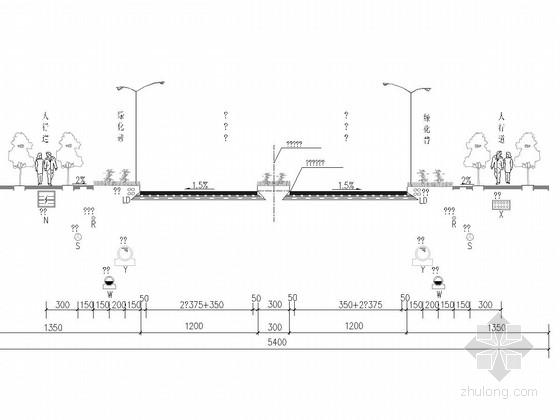 [重庆]54m宽双向6车道市政道路排水设计图纸38张(雨污水分流制)