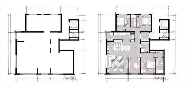 室内手绘 室内设计手绘马克笔上色快题分析图解_24