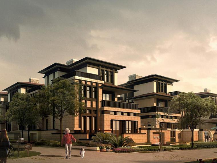 新中式六合院连排别墅区规划设计方案