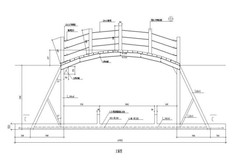 特色拱桥景观设计详图