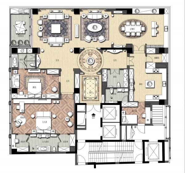 一个大户型12个室内设计方案