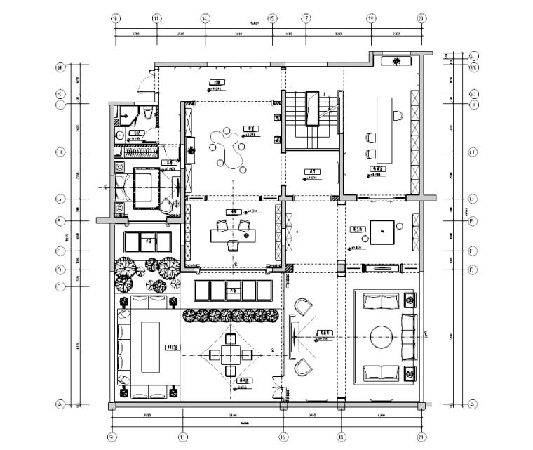 [江苏]雅戈尔地产复式样板间复式概念方案及施工图