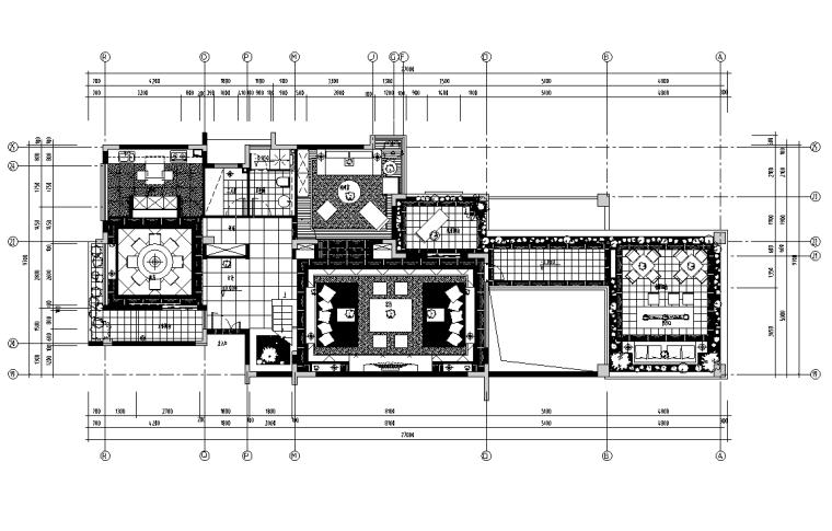 [廣東]新華學府春天項目別墅J1-2戶型施工圖