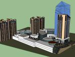 商住综合体建筑设计模型