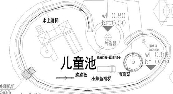 某别墅群会所室外游泳池一体化处理器及功能性图