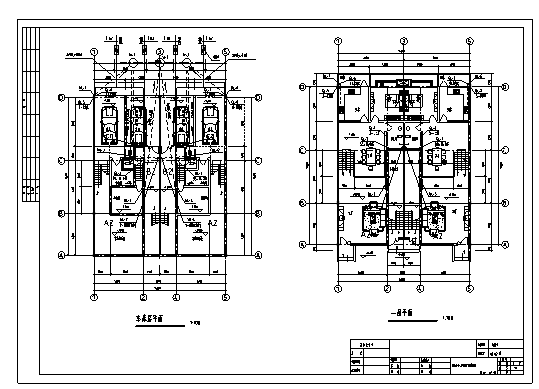 10套双拼别墅给排水电气设计图(2)_2