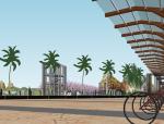 【上海】某开发区南广场景观设计方案模型