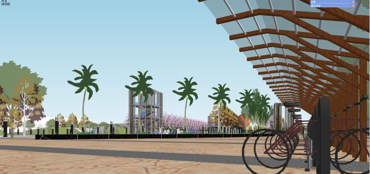 [上海]某开发区南广场景观设计方案模型