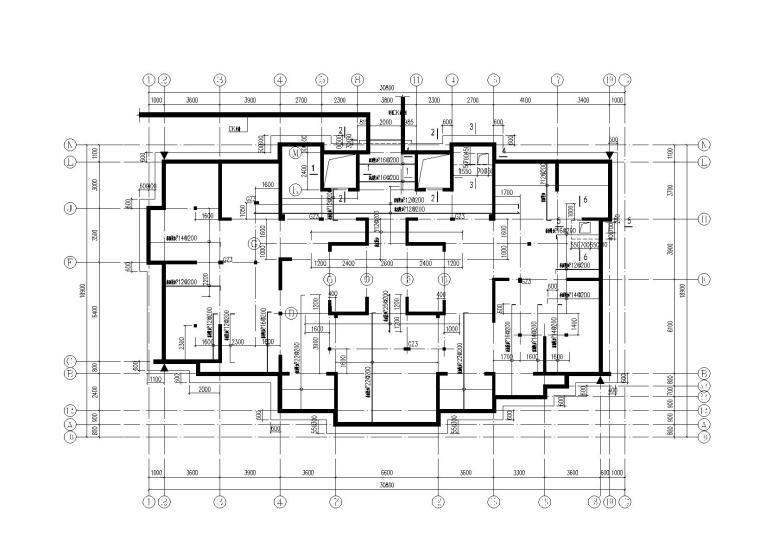34层超高层剪力墙结构住宅楼全套施工图(建筑结构水暖电)