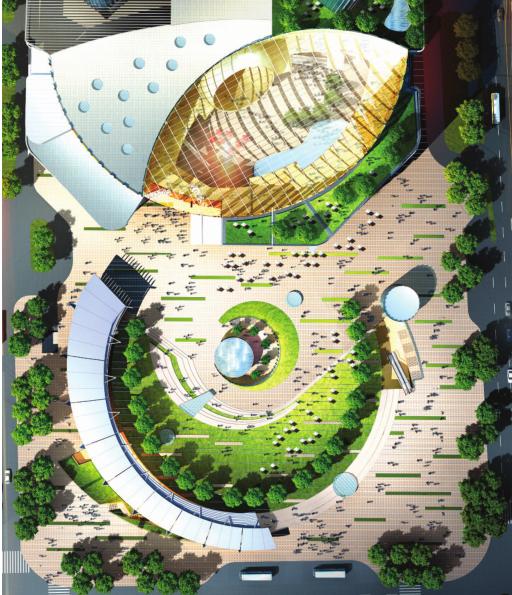 [浙江]超高层个中央国际广场CAD及方案设计全套图纸_7