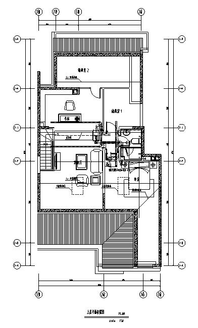 [北京]跃层户型精装样板间室内设计施工图(含效果图)_1