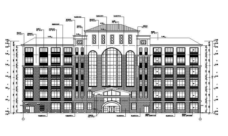 [湖南]17年最新行政楼及中学相关建筑施工图(含水暖电全专业图纸