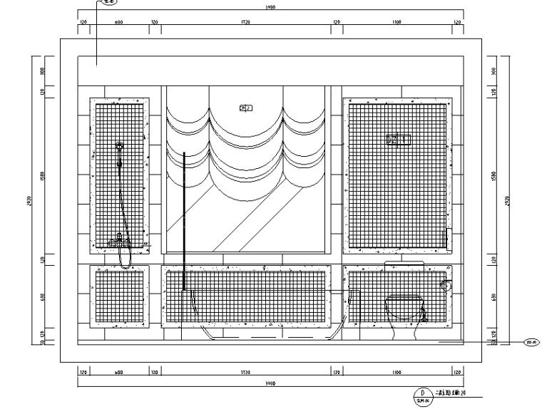 [河北]新古典风格三层别墅样板房施工图(含效果图)_3