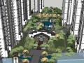 现代大型商业中心与高层住宅小区规划方案SU模型