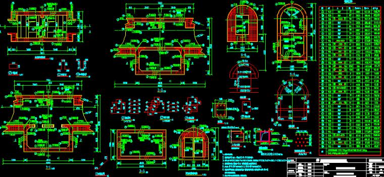 [知名大院]]2016年地铁明挖法矿山法盾构法区间隧道图纸56分册(12个区间,含联络通道泵房)_15