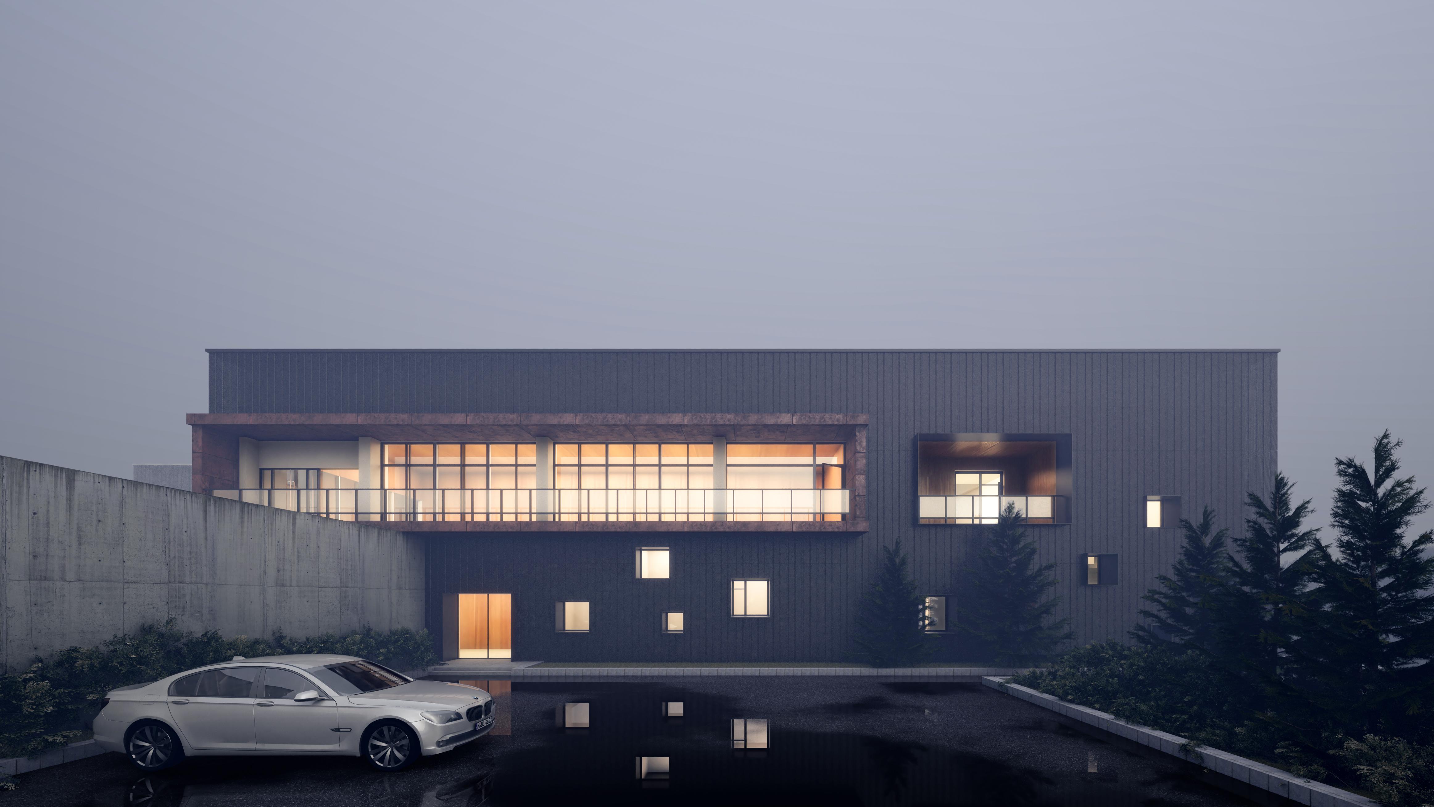 建筑Vray快速渲染出图之阴天