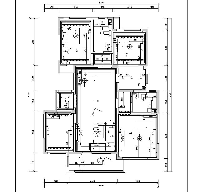 【山东】法式浪漫样板间设计施工图(附效果图)_1