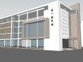 现代风格中学教学楼建筑SU模型