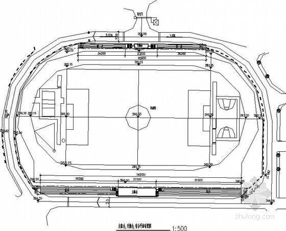 操场主席台雨蓬建筑结构施工图