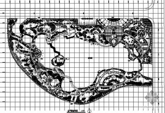 某公园园林设计平面图