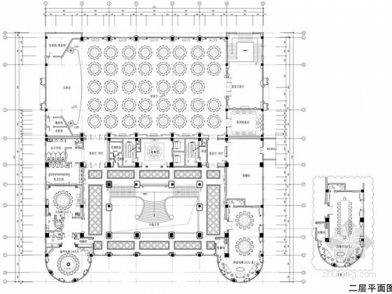 [蘇州]奢華歐式風格商務會所二層宴會廳西餐廳室內裝修圖(含效果)