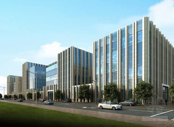 [北京]国内知名企业集团总部规划设计方案文本(含多个方案)-国内知名企业办公总部基地效果图