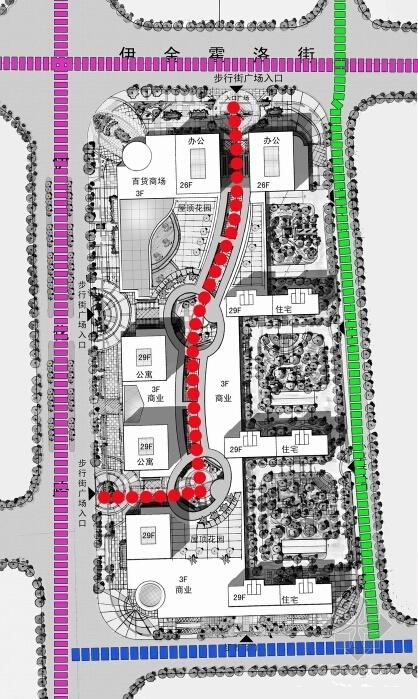 [内蒙古]artdeco风格高层城市综合体建筑设计方案文本-artdeco风格高层城市综合体分析图