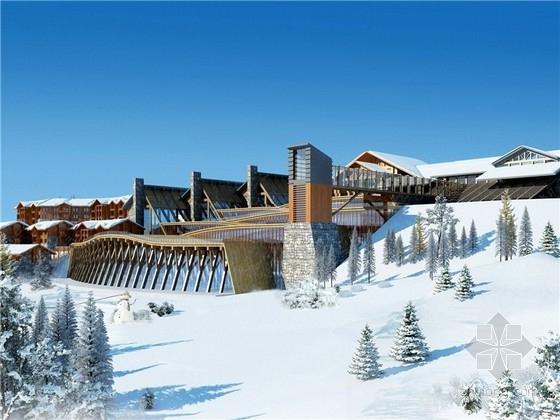 [四川]滑雪场商业综合体设计方案文本(含3个方案 知名设计院)