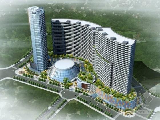 [云南]曲线复合型综商业综合体建筑设计方案文本