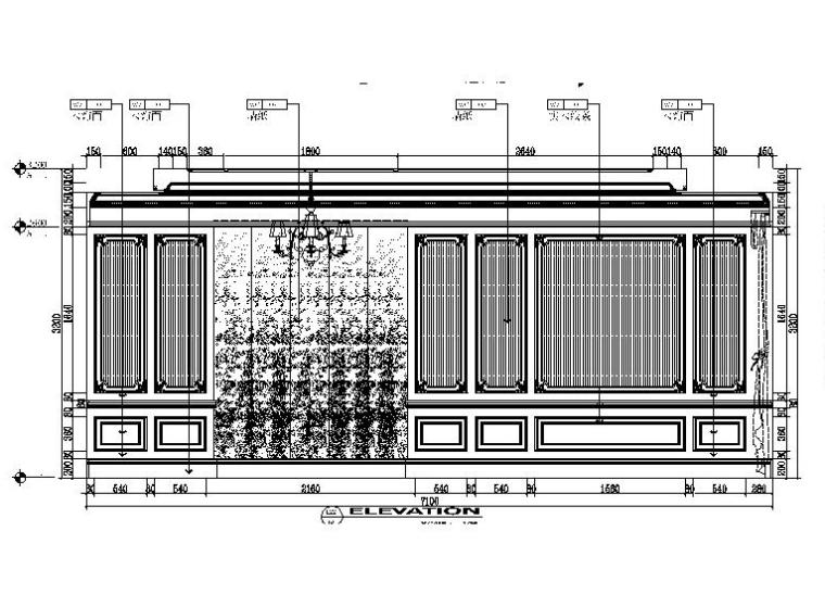 [吉林]经典豪华法式样板房室内设计施工图(含设计方案)_5